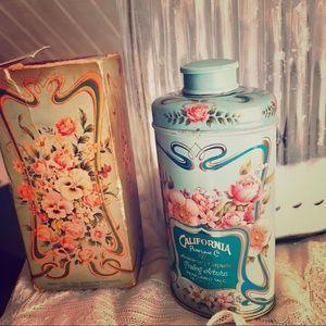 Vintage Avon Trailing Arbutus Perfumed Talc Powder